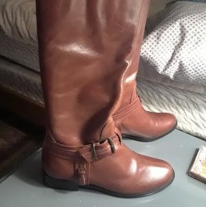 Matisse Tan Leather Classic Riding Boots